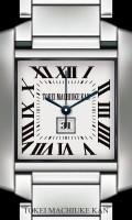 シンプル腕時計待受【スクエア】【シルバー】