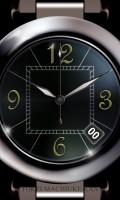 シンプル腕時計待受【ラウンド】【ブラック】