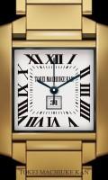シンプル腕時計待受【スクエア】【ゴールド】