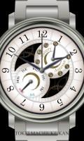 多機能腕時計待受【ラウンド】【シルバー】
