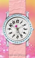 シンプル腕時計待受【ラウンド】【シルバー】