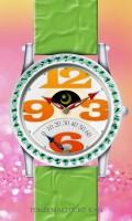 レトログラード腕時計待受【ラウンド】【シルバー】