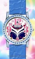 レトログラード腕時計待受【ラウンド】【シルバー】【秒2針】