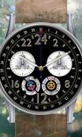 24時間計多機能腕時計待受【ラウンド】【シルバー】【ブラック】