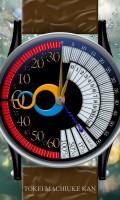 レトログラード腕時計待受【ラウンド】【ブラック】【秒2針】