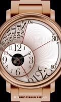 レトログラード腕時計待受【ラウンド】【ゴールド】【秒2針】