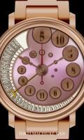 クレイジーアワー腕時計待受【ラウンド】【ゴールド】【ピンク】