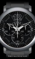 クロノグラフ腕時計待受[ラウンド][シルバー][ブラック]