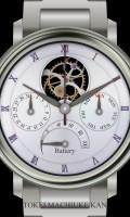 多機能腕時計待受[ラウンド][シルバー][ホワイト]