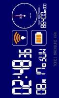 多機能デジタル待受【1DAYカウントダウン】【ブルー】【横画面】